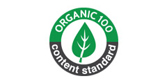 Certified by organic-100