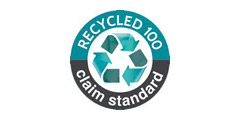 Certified by recycled-100